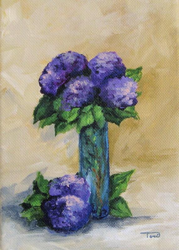 """Hydrangeas"" original fine art by Torrie Smiley"