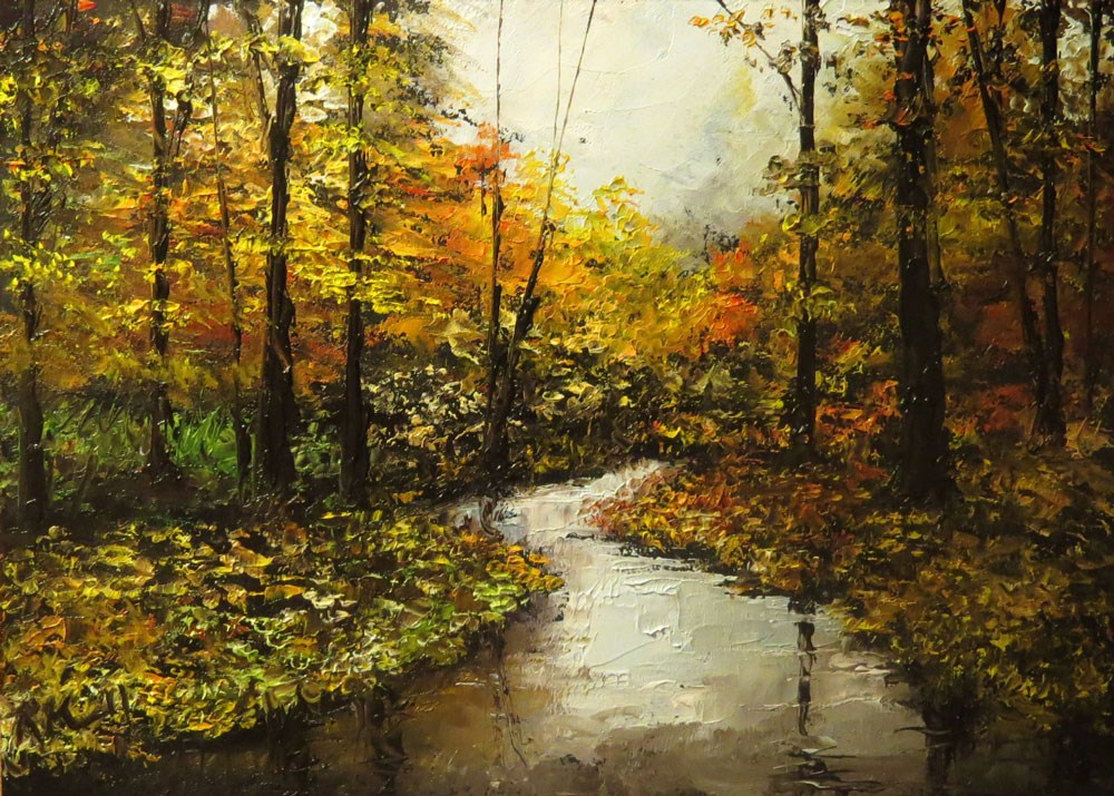 """River In Autumn"" original fine art by Bob Kimball"