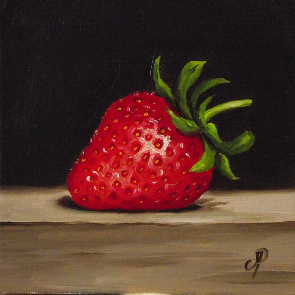 """Strawberry #2"" original fine art by Jane Palmer"