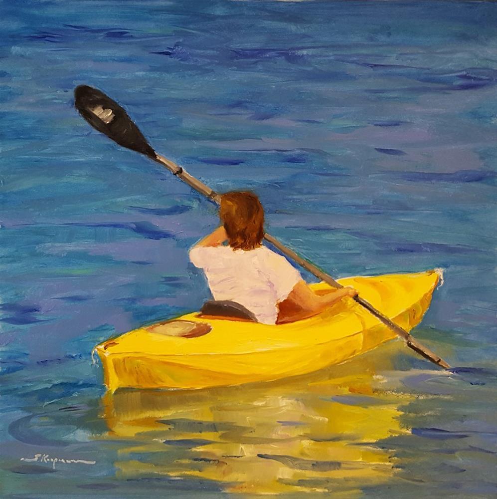 """Quiet Paddling on Smith Mountain Lake"" original fine art by Shelley Koopmann"