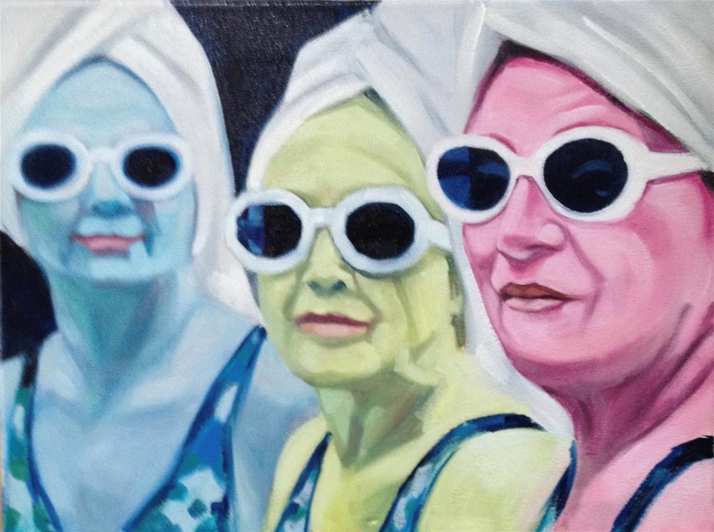 """Trio of Towels"" original fine art by Bev Thibault"