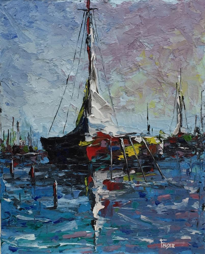 """Mooring 3"" original fine art by Ken Fraser"