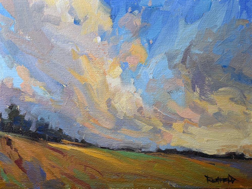 """Clouds"" original fine art by Cathleen Rehfeld"