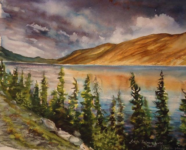 """Storm Clouds, Little Salmon Lk."" original fine art by Jackie Irvine"