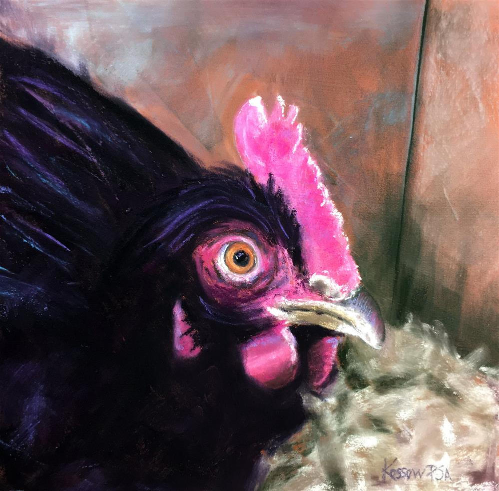 """I've Got My Eye On You"" original fine art by Cristine Kossow"