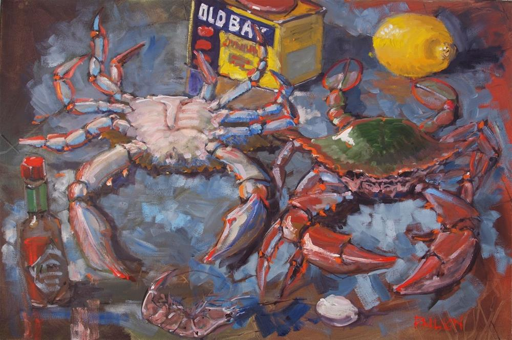"""Still life with Spice and Bluecrabs"" original fine art by Rick Nilson"
