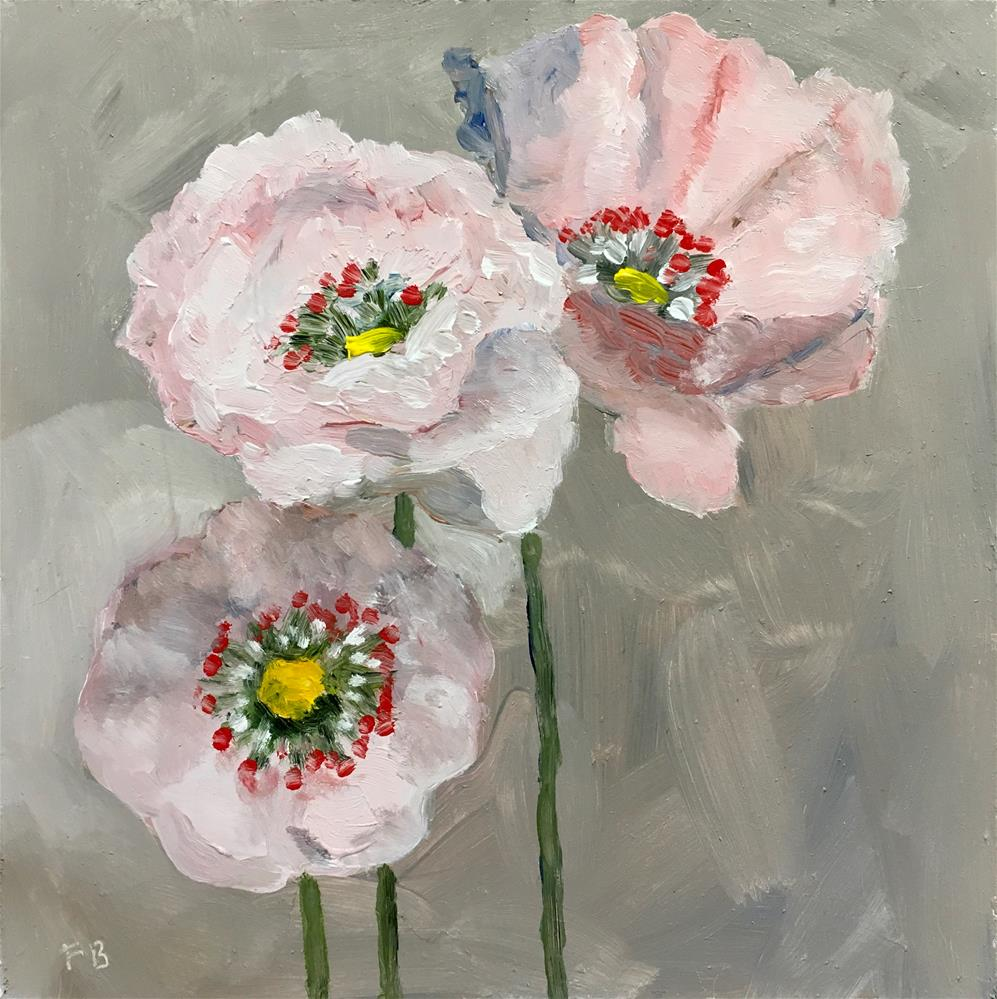 """Poppies"" original fine art by Fred Bell"