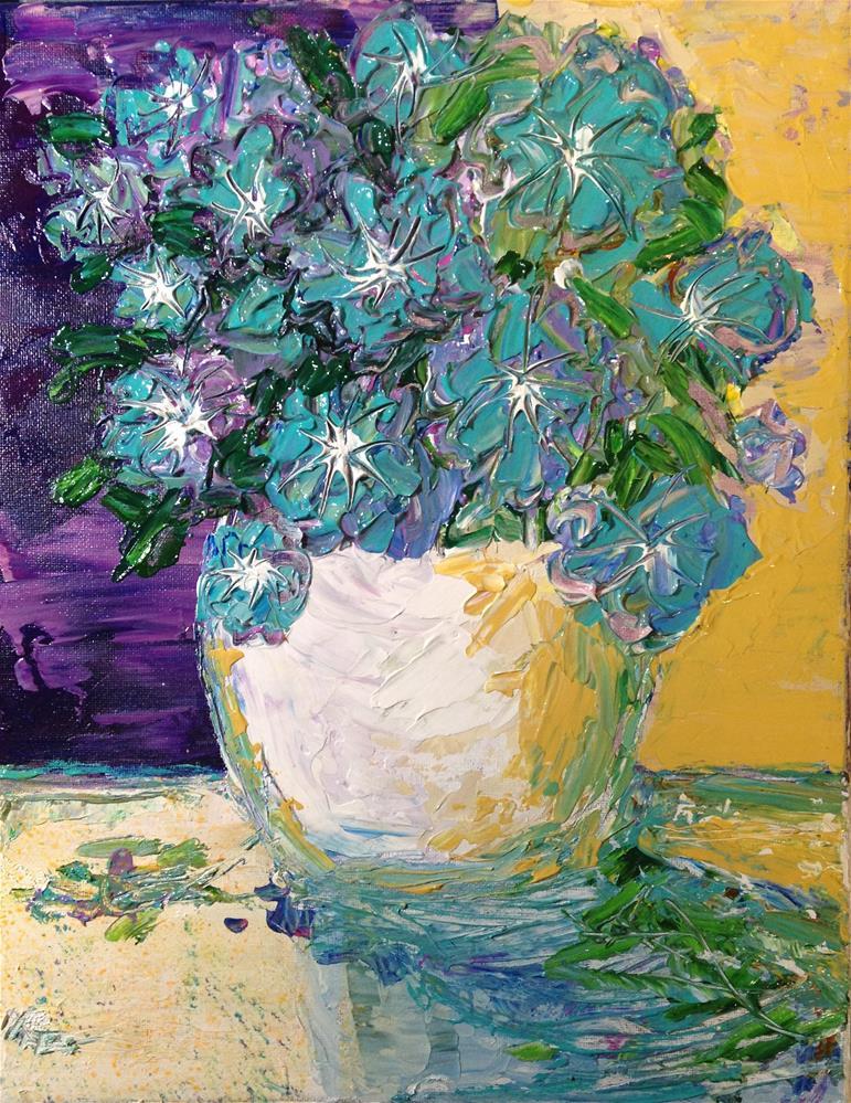 """""""Flowers in Vase"""" original fine art by Barbara Beckmann"""