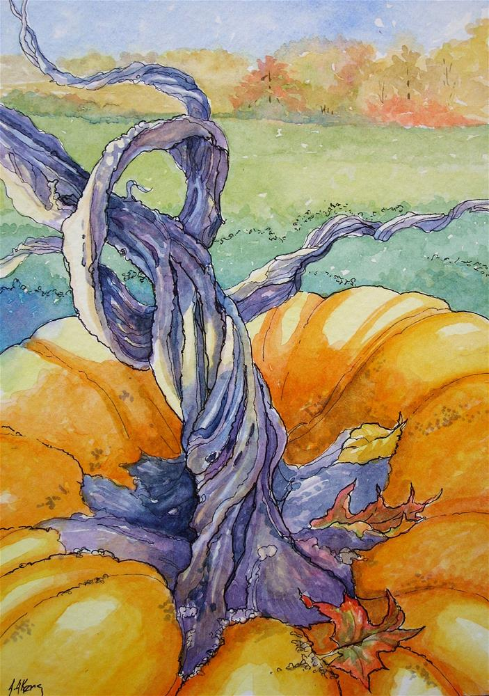 """""""It is All in the Stem Storybook Cottage Series"""" original fine art by Alida Akers"""