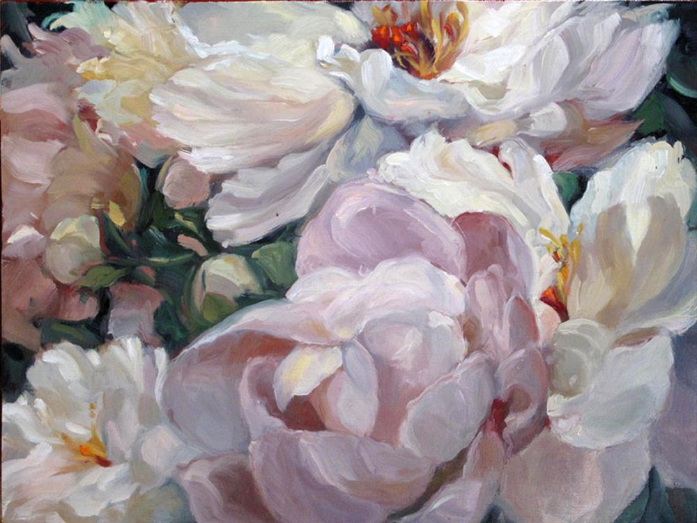 """Peonies - Minor divas"" original fine art by Myriam Kin-Yee"