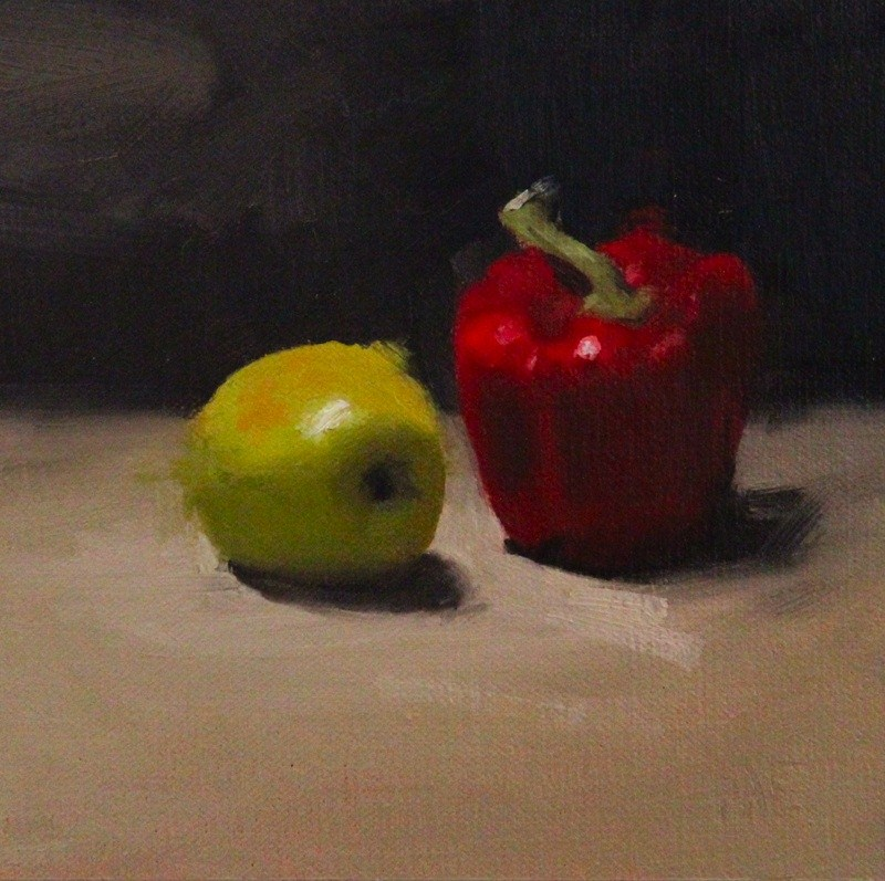 """Apple and Paprika"" original fine art by Thorgrimur Andri Einarsson"