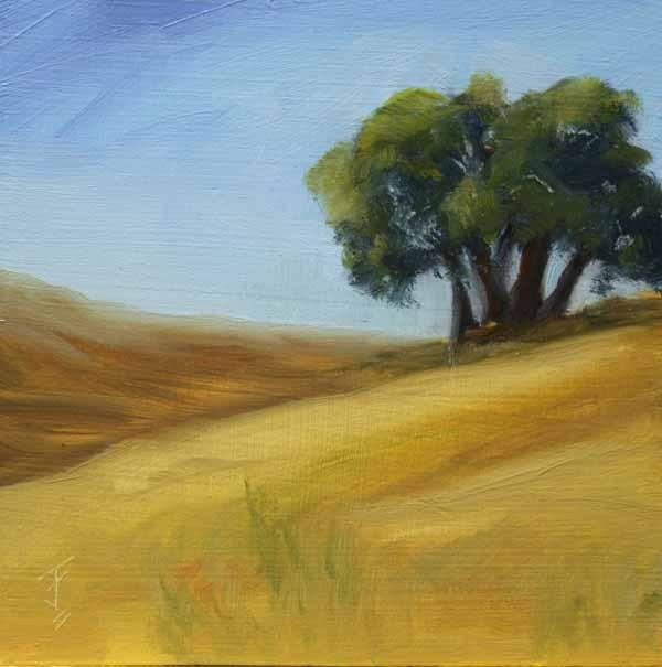 """Tree Stand"" original fine art by Jane Frederick"
