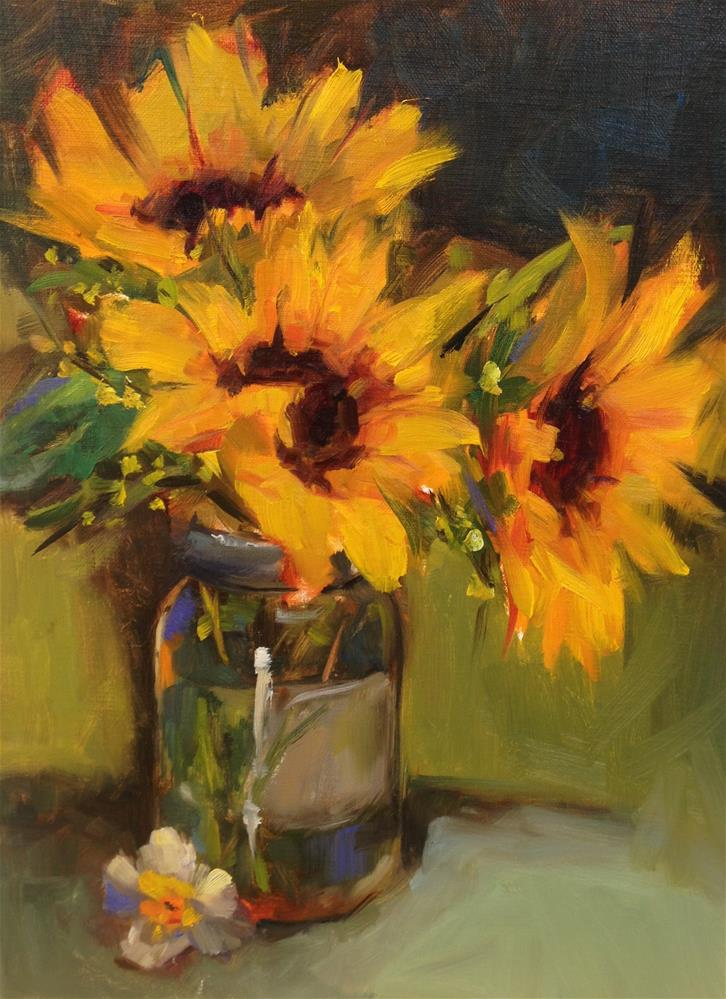 """Burst of Sunshine"" original fine art by Laurie Johnson Lepkowska"
