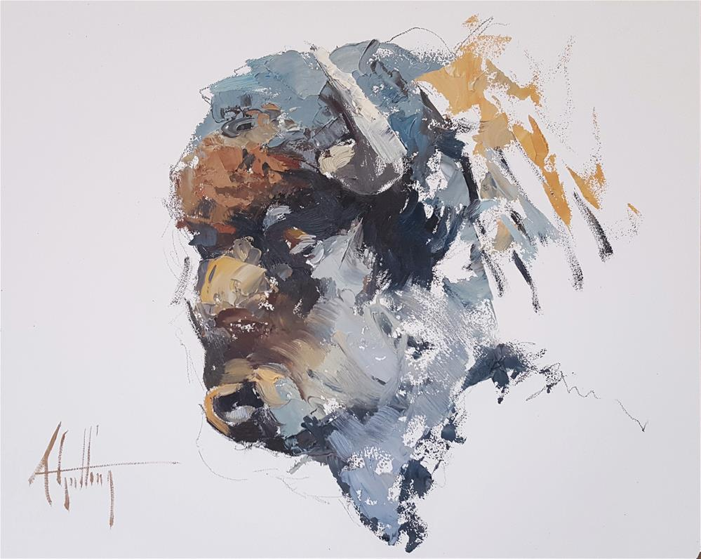 """Buffalo Study #14"" original fine art by Abigail Gutting"