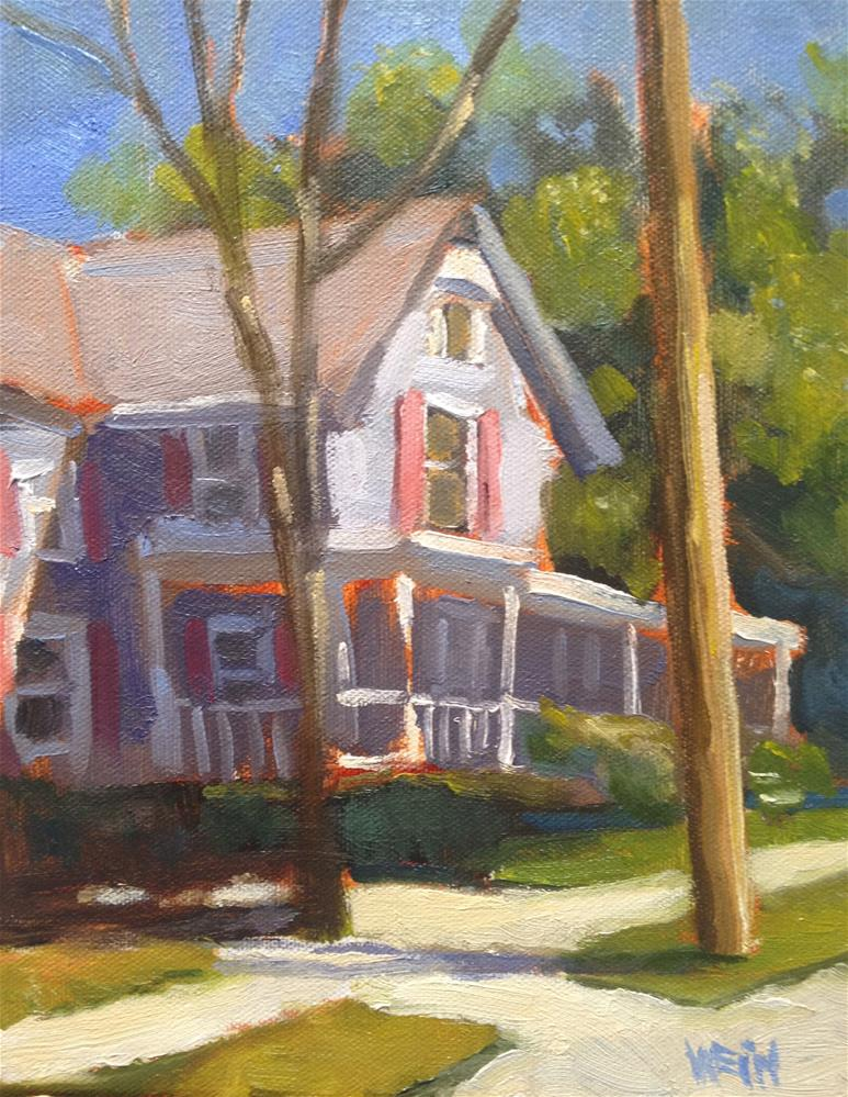 """blue house early spring"" original fine art by eric wein"