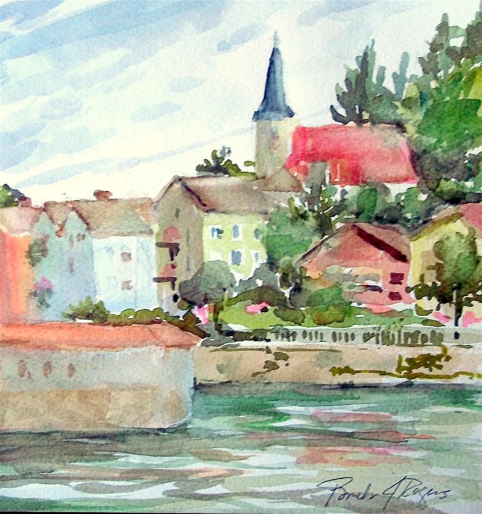 """Danube View"" original fine art by Pamela Jane Rogers"