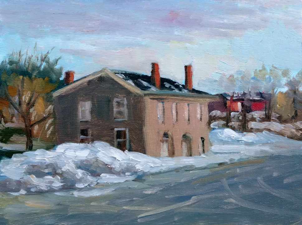 """Train Station en Plein air"" original fine art by Daniel Fishback"