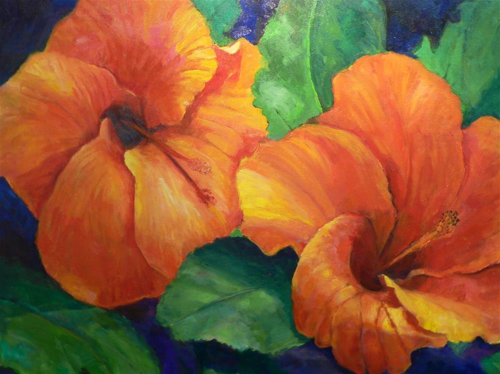 """""""Hibiscus"""" original fine art by Carol Josefiak"""