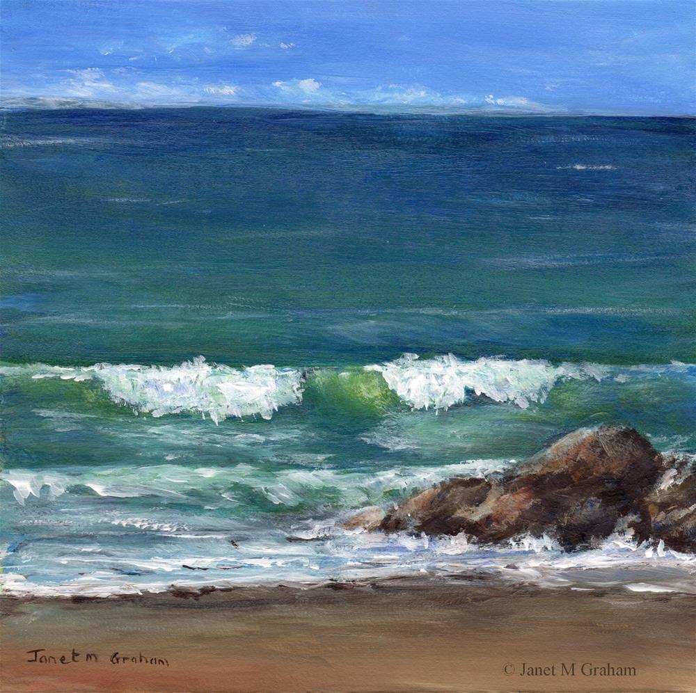 """Horizon"" original fine art by Janet Graham"