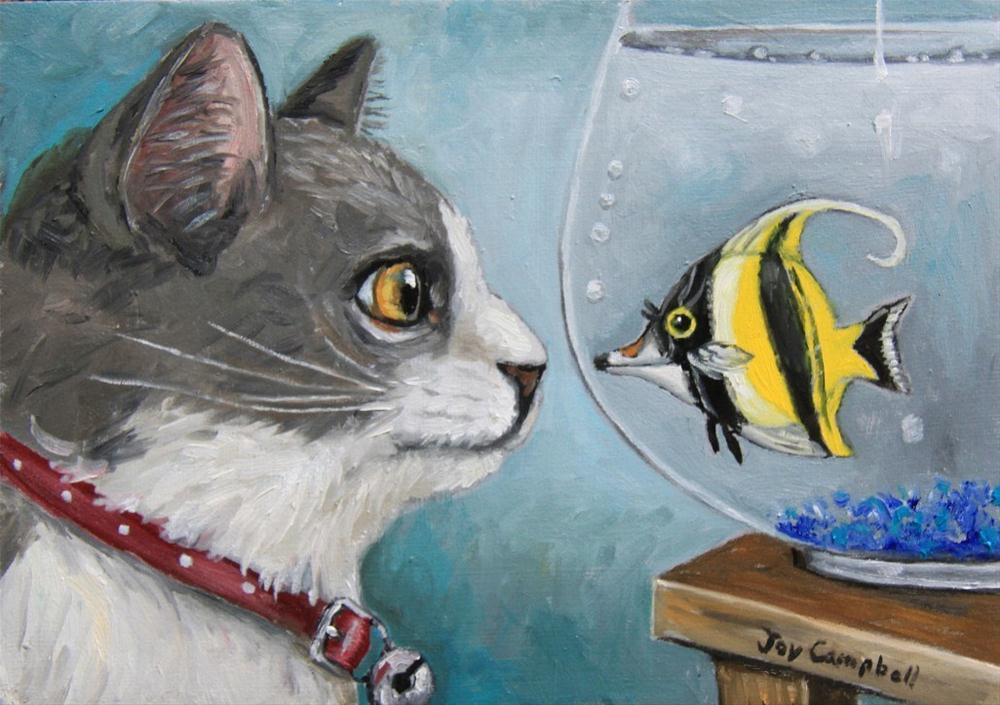"""""""Fishie Surprise"""" original fine art by Joy Campbell"""