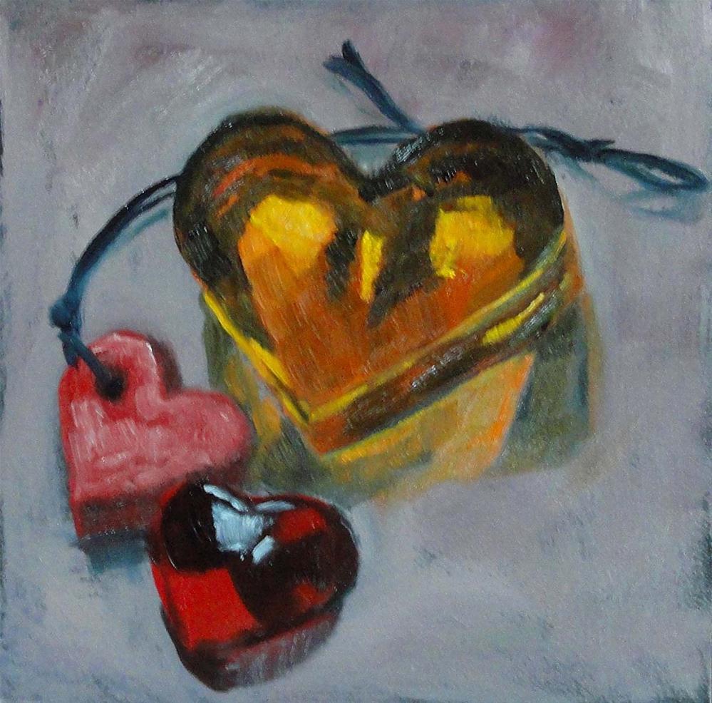 """Three Sweet Hearts"" original fine art by Cietha Wilson"