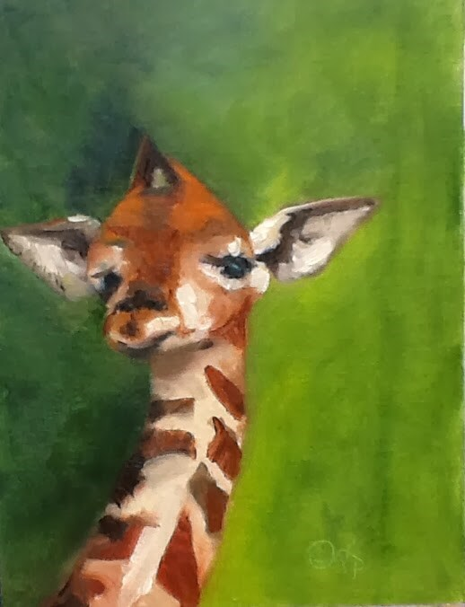"""My Giraffe"" original fine art by Peggy Schumm"