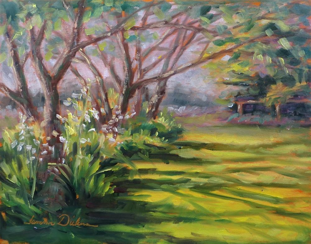 """Morning Light on the Lawn"" original fine art by Tammie Dickerson"