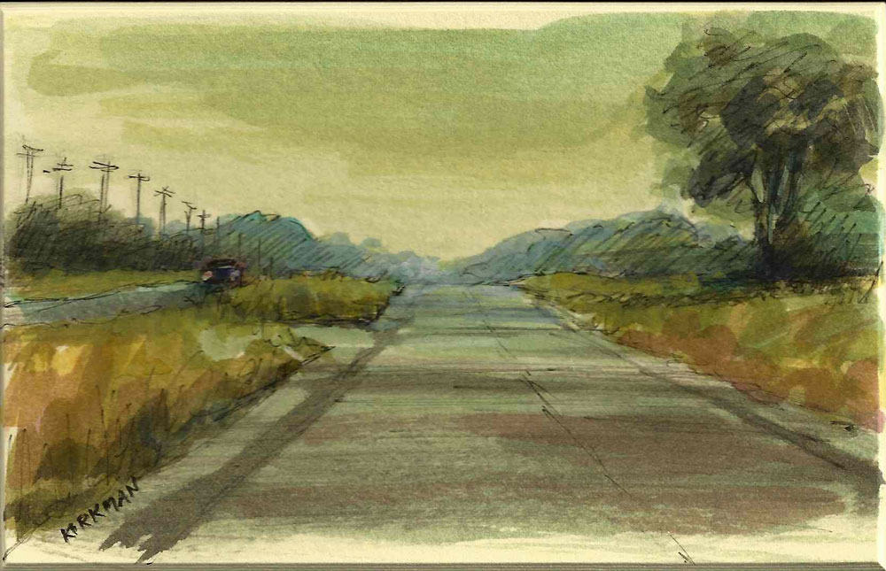 """Road Sketch"" original fine art by Rita Kirkman"