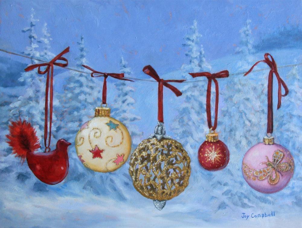 """Christmas Pretties"" original fine art by Joy Campbell"