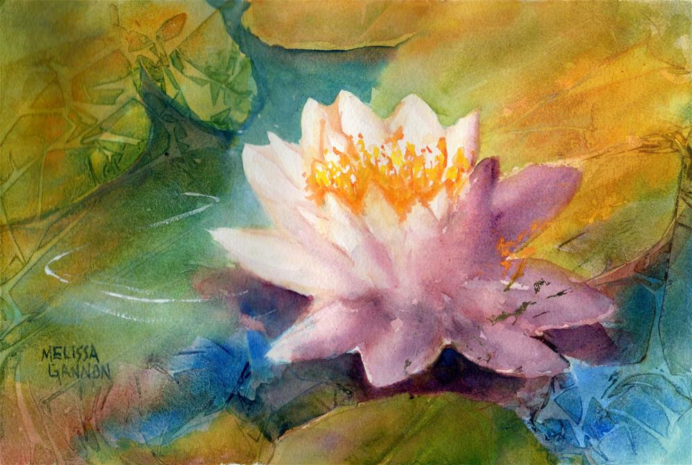 """Bloom in the Water"" original fine art by Melissa Gannon"