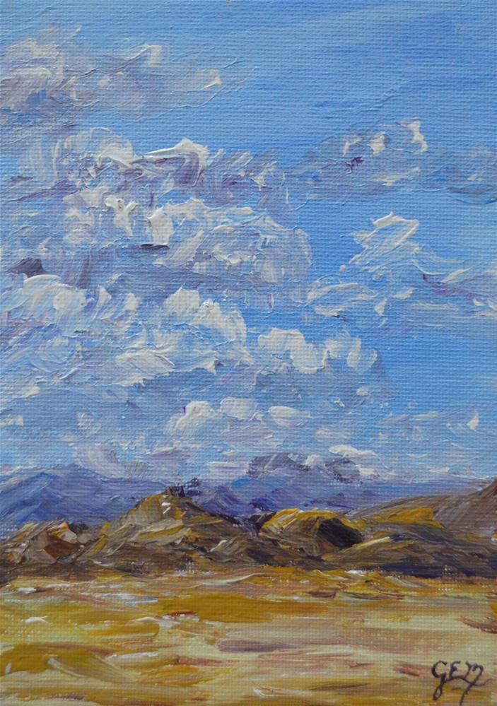 """Plains Of Utah"" original fine art by Gloria Ester"