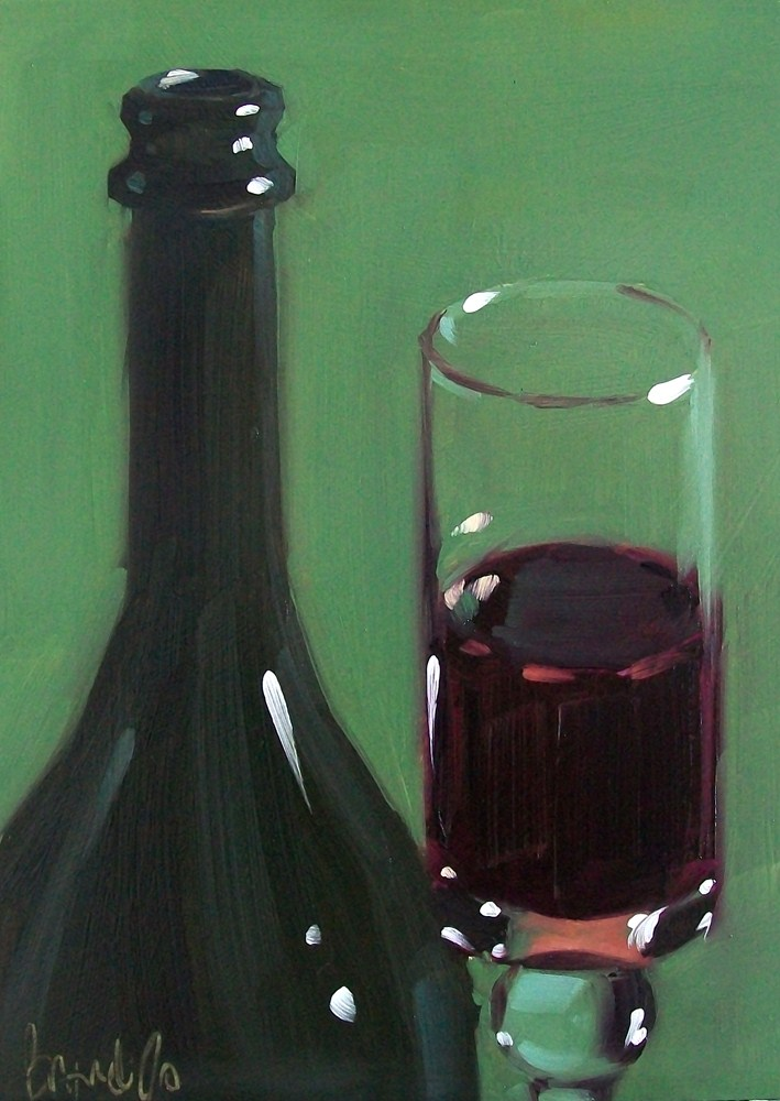 """Wino 28"" original fine art by Brandi Bowman"