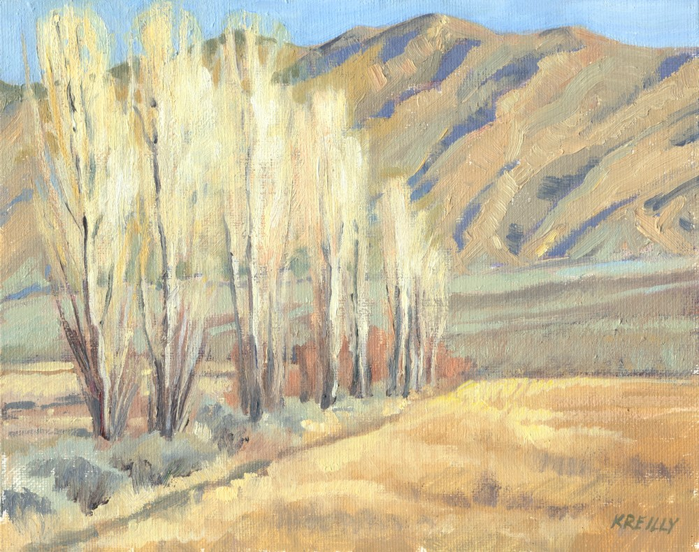 """Ranch Fenceline"" original fine art by Kath Reilly"