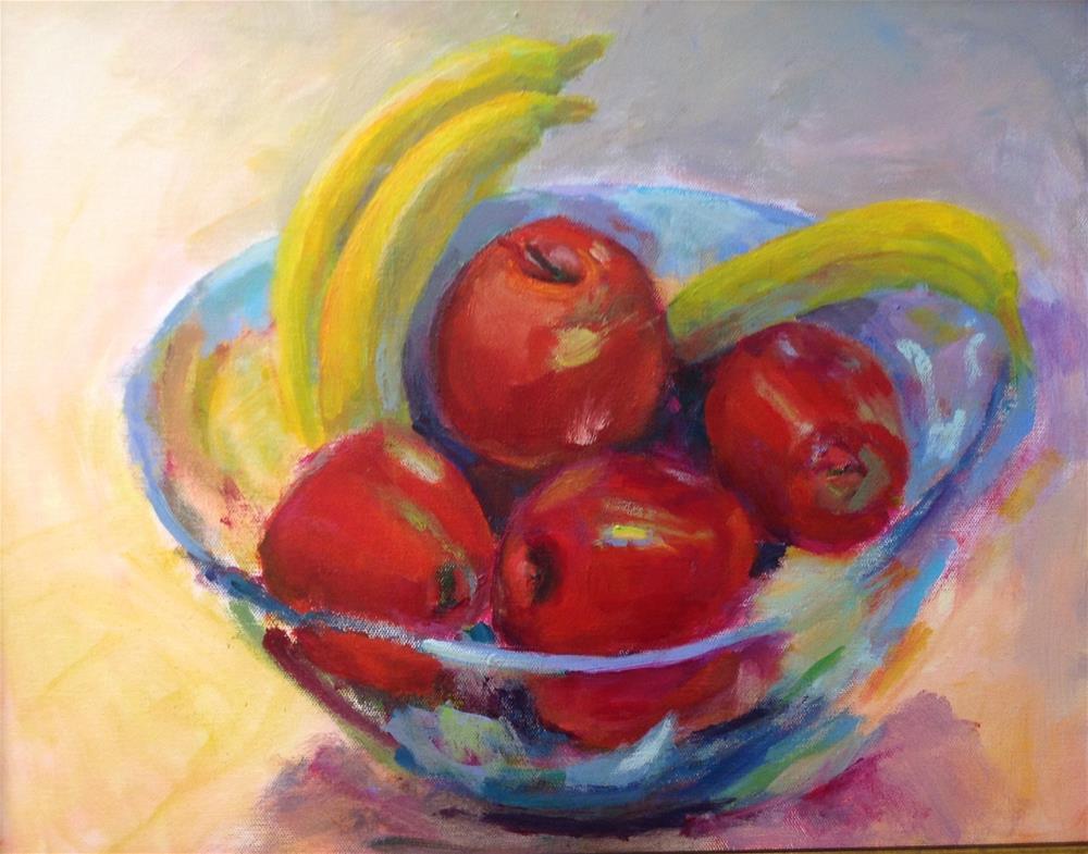 """Apple or Banana?"" original fine art by Marcia Bergtholdt"