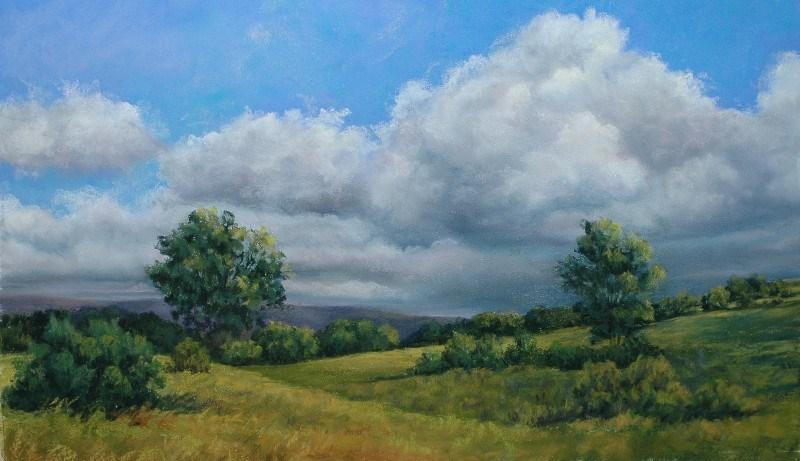 """Clouds (For Maggie)"" original fine art by Susan Klabak"