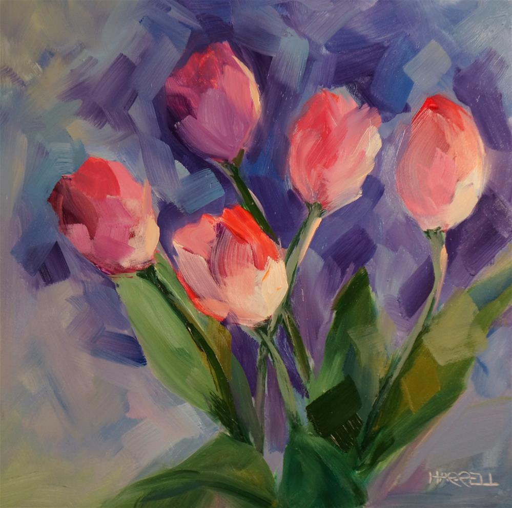 """Tulip Dance"" original fine art by Sue Harrell"