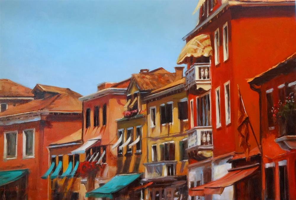 """Venetian Facades II"" original fine art by Jonelle Summerfield"