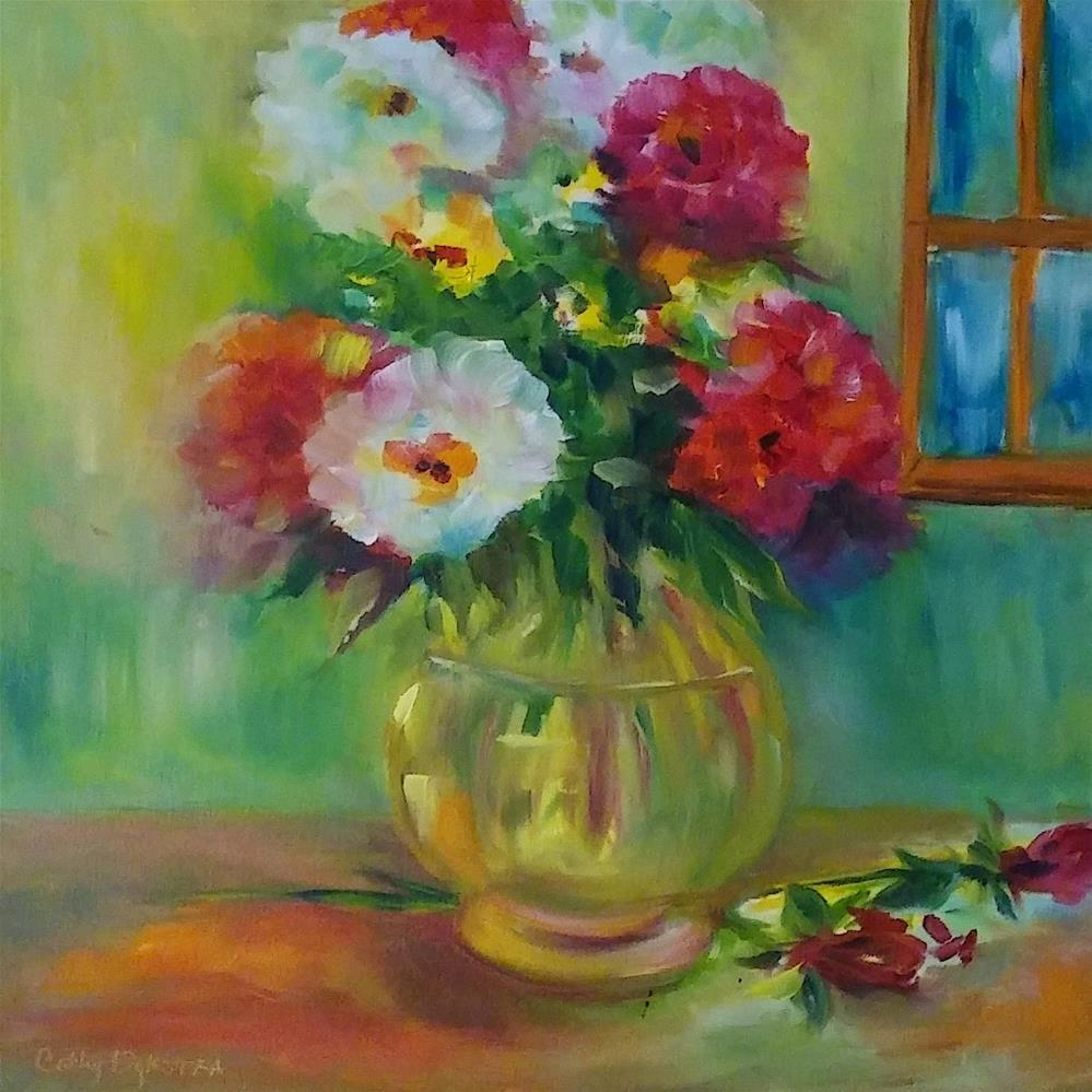 """Country Fresh Flowers"" original fine art by Cathy Dykstra"