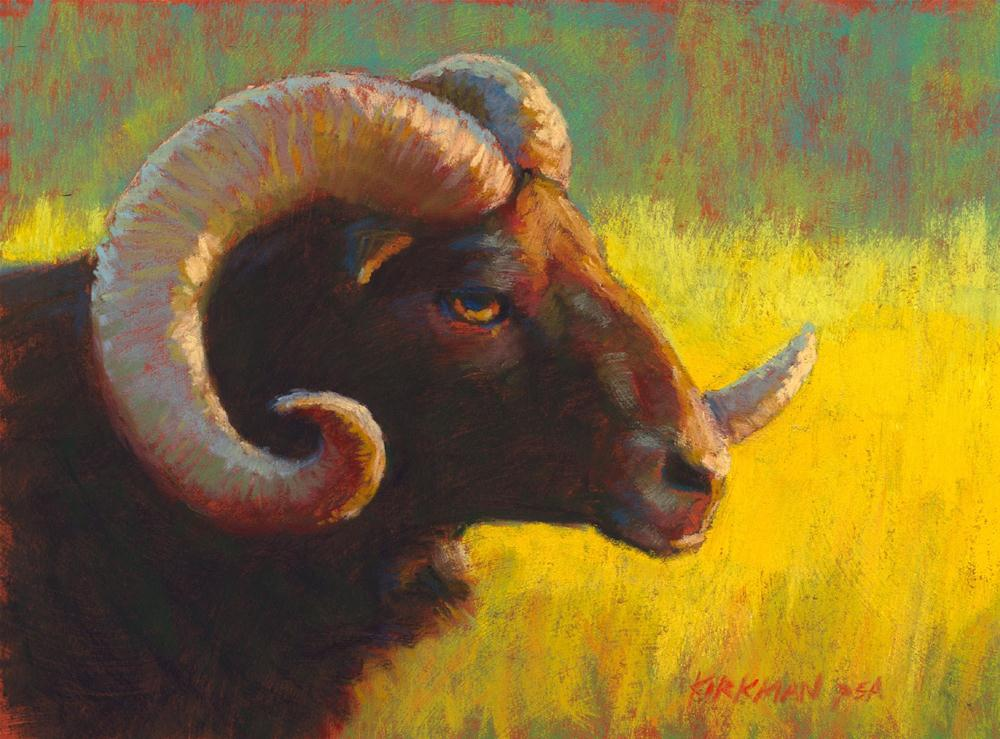 """Ramses at Sunset"" original fine art by Rita Kirkman"