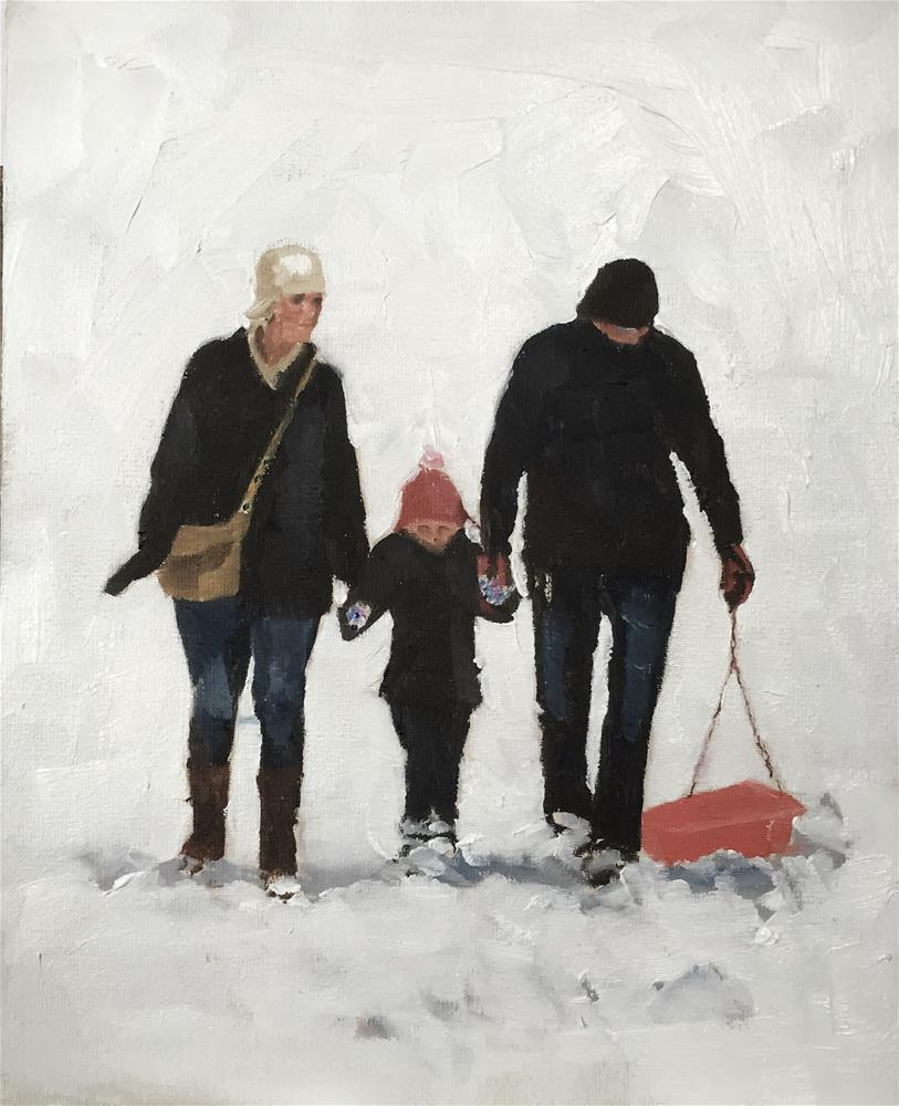 """Snow Scene"" original fine art by James Coates"