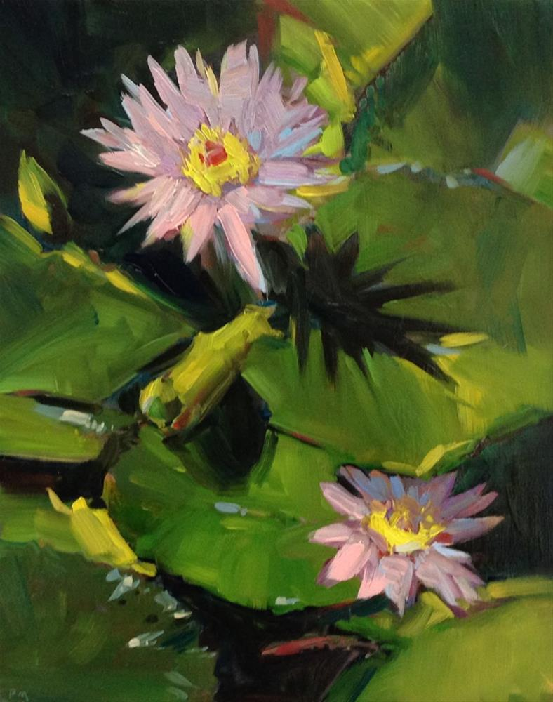 """L is for Lily Pads"" original fine art by Patti McNutt"