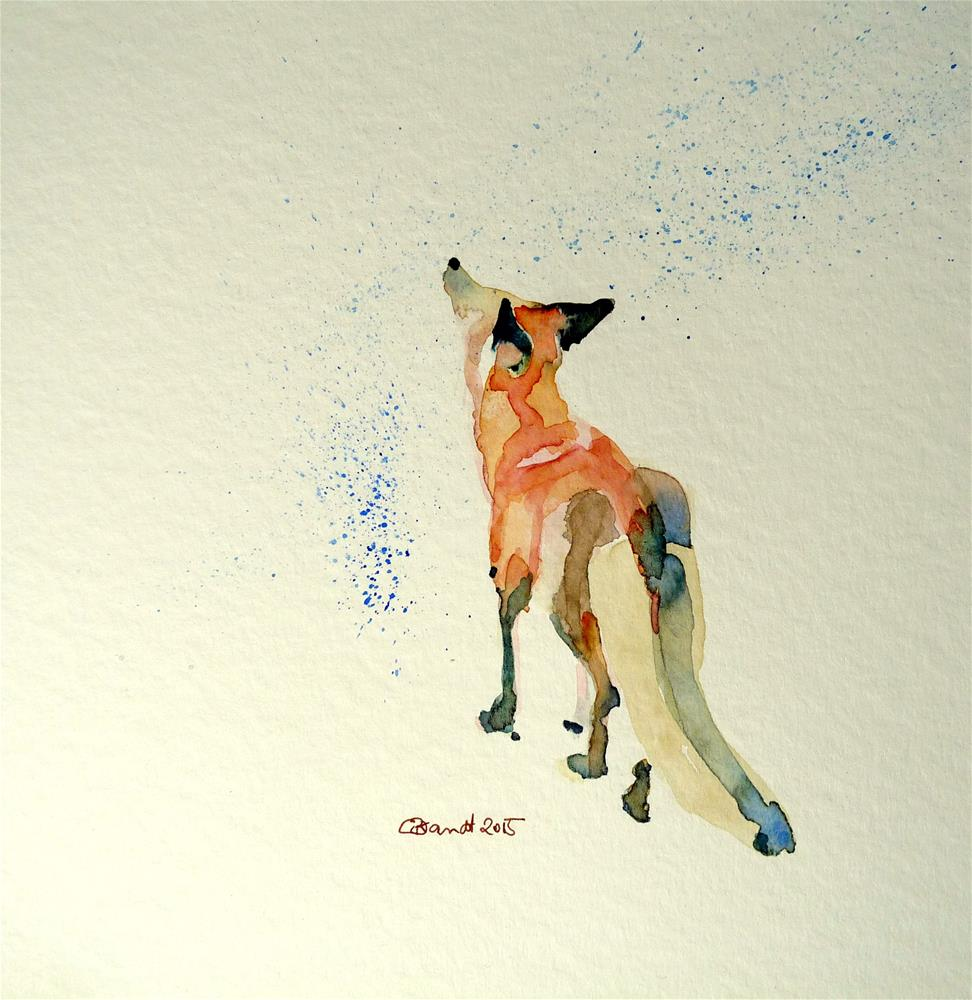 """fox"" original fine art by Claudia Brandt"