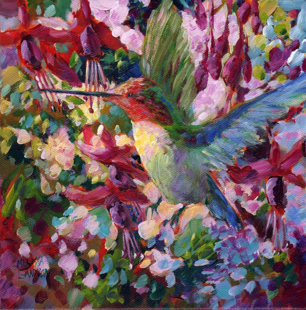 """Fuchsia Hangout"" original fine art by Melissa Gannon"