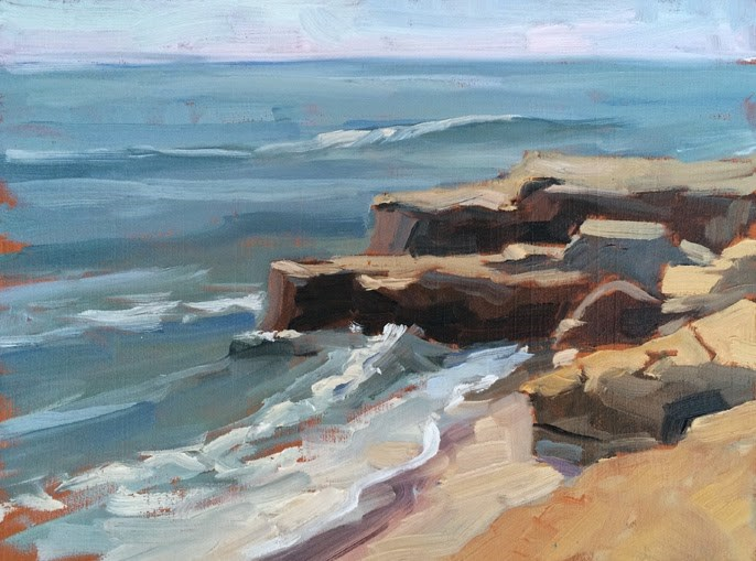 """Afternoon at Windansea"" original fine art by Deborah Newman"