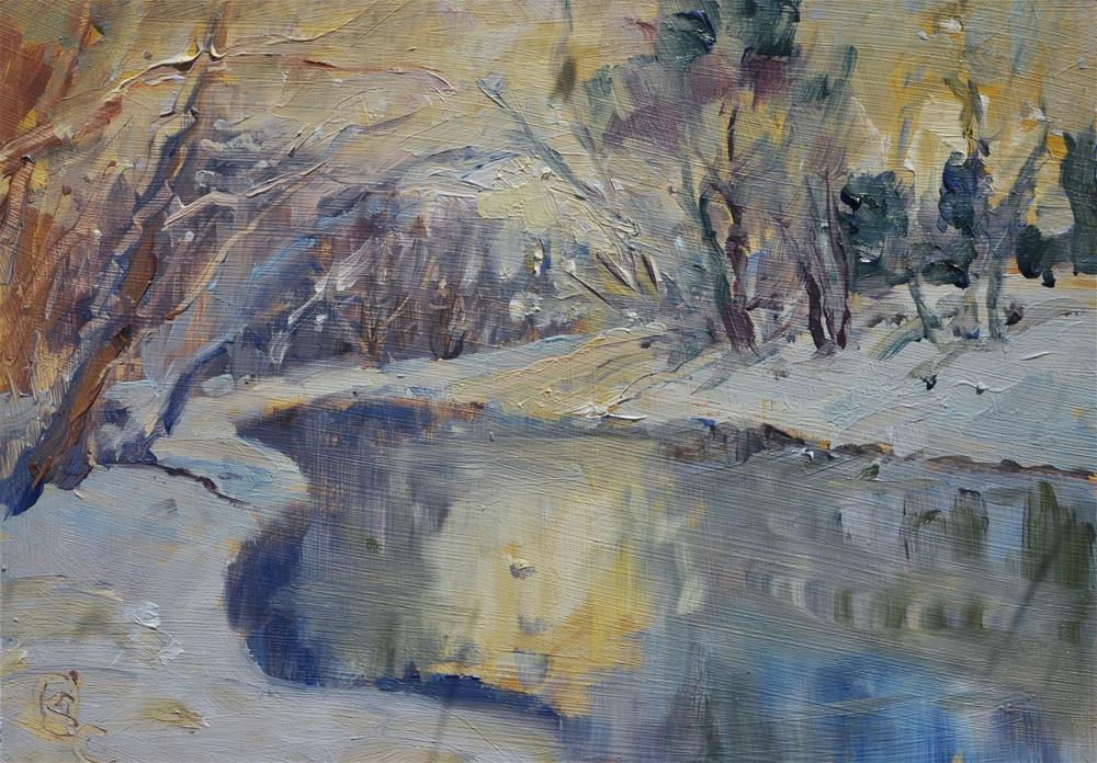 """Golden Pond"" original fine art by Catherine Crookston"