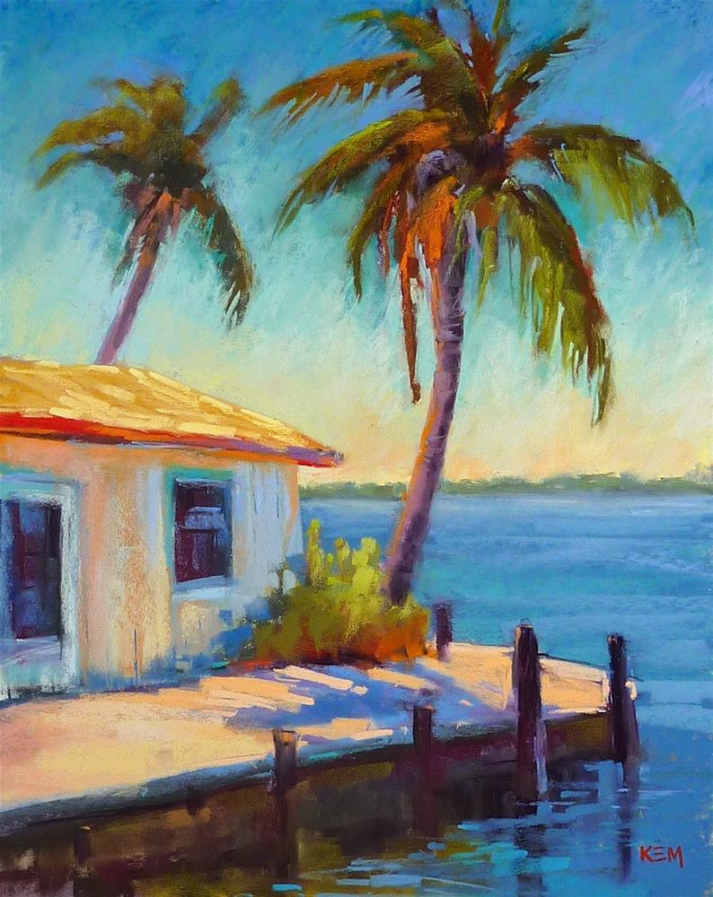 """""""Monday Mini Pastel Demo...Old Florida Fishing Shack"""" original fine art by Karen Margulis"""