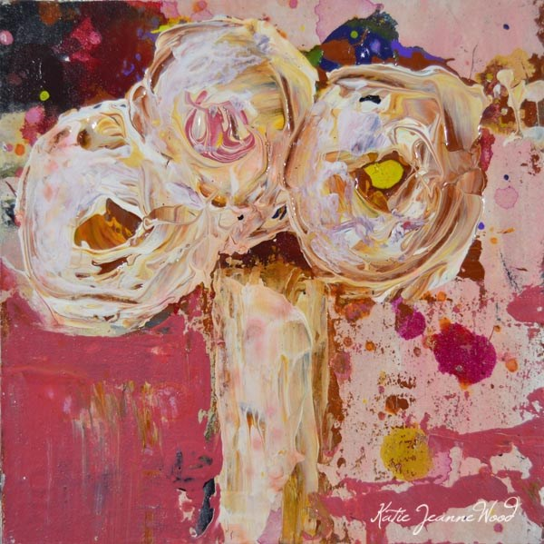 """Flower Painting No 82"" original fine art by Katie Jeanne Wood"