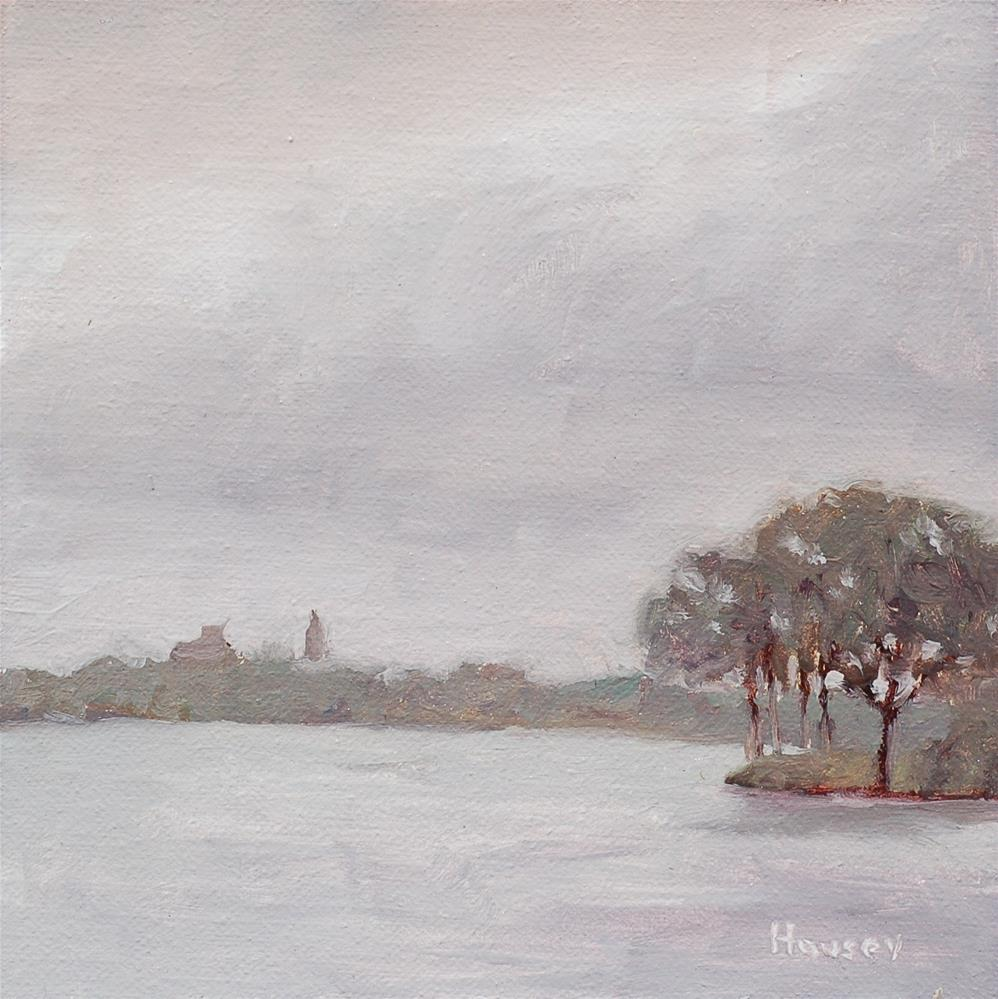 """Storm Over College Lake"" original fine art by Bruce Housey"
