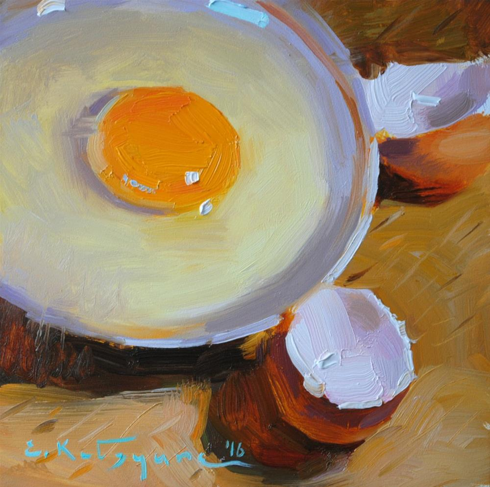 """Breakfast-to-Be"" original fine art by Elena Katsyura"