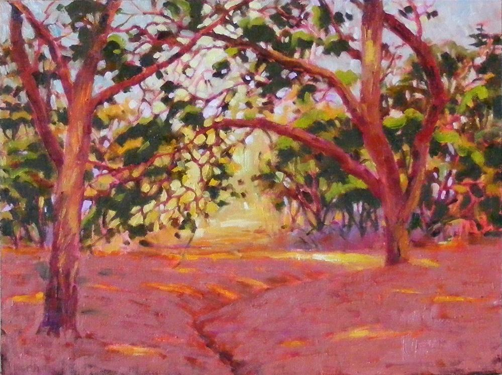 """Dancing trees"" original fine art by Celine K.  Yong"